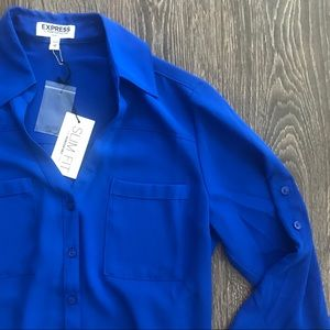 Gorgeous Express Royal Blue Slim-Fit Portofino NWT